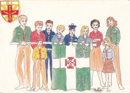 Scoutisme - Scouts Et Guides De France De Saint-Léon - Paris - Marin - Illustrateur M. Braud - Scouting
