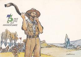 Scoutisme - Baden-Powell Premier Camp Scout Ile De Brownsea - Illustrateur Pellerin - 75ème Anniversaire - Scouting