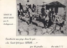 Scoutisme - Scouts De Haute-Volta - Construction Maisons - 1974 - Afrique Burkina Faso - Scouting