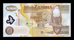 Zambia 500 Kwacha 2005 Pick 43d Polymer SC UNC - Zambia