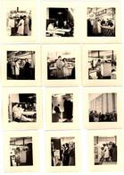 12 Petites Photos Carrées Originales Foire De Lille, Electroménager, Jean Preiss-Zimmer, Potez, Gle De Fonderie, Facon - Objets
