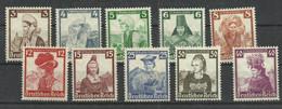 Deutsches Reich 588/597 ** - Unused Stamps