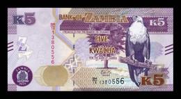 Zambia 5 Kwacha 2018 Pick 57b SC UNC - Zambia