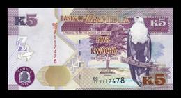 Zambia 5 Kwacha 2012 Pick 50a SC UNC - Zambia