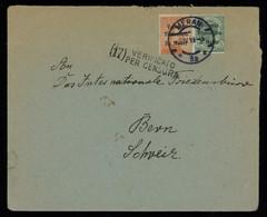 TREASURE HUNT [03043] Italian Occ. In Austria 1919 Cover To Switzerland, W/ Venezia Tridentina Ovpt. 20h On 20c+5h On 5c - Oostenrijkse Bezetting