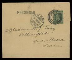 "TREASURE HUNT [03056] Gibraltar 1906 1/2d Printed Matter Cover Sent To Switzerland, Bearing ""REICHENAU"" Pmk. On Front - Gibraltar"