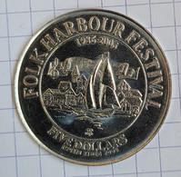 Canada, Nova Scotia 5 Dollar 2006, NS90. Lunenburg. Harbour Ship Festival, UNC - Canada