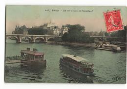 En 1907 Style Vernie Ile De La Cité Le Pont Neuf Bateau Mouche 445 ELD Paris E LE DELEY - Arrondissement: 04
