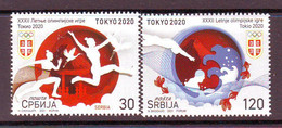 Serbia 2021 SPORT XXXIIOlympic Games Tokyo 2020 (2) MNH - Serbia