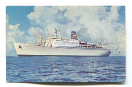 SS Mariposa, SS Monterey - Pacific Far East Line Cruise Liner - 1950's Or 60's Postcard - Paquebots
