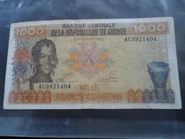 BILLET DE 1000 FRANCS GUINEE 1960 - Guinea