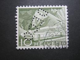 SCHWEIZ    ,  FIRMENLOCHUNG , Perfin , 2 Scans - Used Stamps