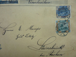 1921  Brief   SAARLOUIS - Covers & Documents