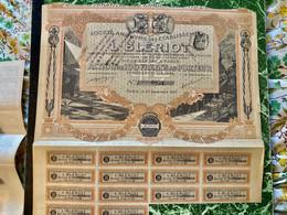 S.A.  Des  ÉTABLISSEMENTS  L.  BLÉRIOT -------------  Action  De  100 Frs - Cars