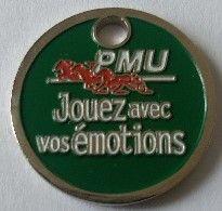 Jeton De Caddie - PMU - Jouez Avec Vos émotions - En Métal - Neuf - - Einkaufswagen-Chips (EKW)