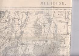 Carte Ancienne Alsace, Mulhouse Et Sa Région, Rév. 1908 - Topographical Maps