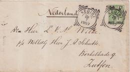 "INDE NEERLANDAISE : ENTIER POSTAL . "" KEDERI "" . POUR LES PAYS - BAS . 1902 . - Niederländisch-Indien"