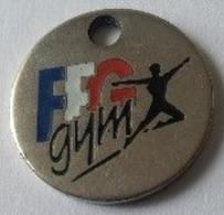 Jeton De Caddie - F.F.G Gym - Fédération Française De Gymnastique - En Métal - - Einkaufswagen-Chips (EKW)