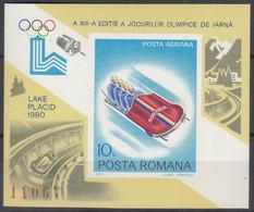 RUMÄNIEN Block 165, Postfrisch **, Olympische Winterspiele 1980, 1979 - Blocks & Kleinbögen