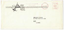 """FLAMME EMA PUBLICITÉ """" PARFUMERIE MONT ST MICHEL EAU DE COLOGNE """" ILLUSTRATION À ST OUEN SEINE Sur LETTRE 1965 - EMA (Printer Machine)"""