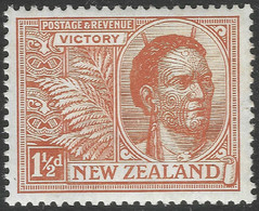 New Zealand. 1920 Victory. 1½d MH. SG 455 - Unused Stamps