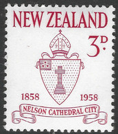 New Zealand. 1958 Centenary Of City Of Nelson. 3d MH. SG 767 - Unused Stamps