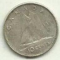 S-10 Cents 1968 Canadá Silver - Canada