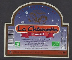 Etiquette De Bière D'Hiver Bio   -  La Châouette  -  Brasserie Laurent Kobler  à Saizerais  (54) - Beer