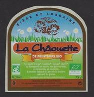 Etiquette De Bière De Printemps Bio   -  La Châouette  -  Brasserie Laurent Kobler  à Saizerais  (54) - Beer