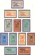 Gabon: Lot 12 Valeurs*; Cote 107.00€ - Unused Stamps