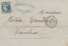 LETTERA 1872 C.25 FRANCIA (RY688 - 1849-1876: Klassik