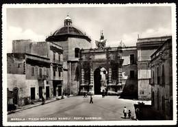 Marsala Piazza Goffredo Mameli Porta Garibaldi, Cartolina Viaggiata - Marsala