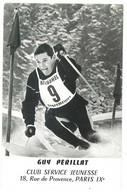 Carte (verso Vierge) Ski, Skieur Guy Périllat, Club Service Jeunesse - Winter Sports