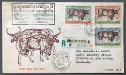 Cambodge - FDC - Protegez Le KOPREY - TAD Phnom - Penh - A Pour Les USA 2.3.1964 - (W1282) - Cambodja