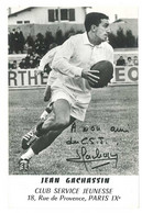 Carte (verso Vierge) Rugby , Jean Gachassin, Club Service Jeunesse (fac-similé Autographe) - Rugby