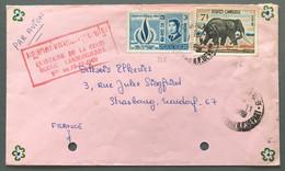 Cambodge N°186 Et 216 Sur Enveloppe Griffe Quinzaine De La Croix-Rouge Cambodgienne 1969 - (W1301) - Cambodja