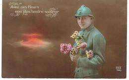 CPA FRANCE THEMES MILITARIA - 1914-18 - Avec Ces Fleurs Mon Plus Tendre Souvenir - Other