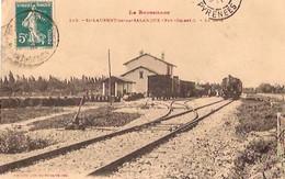 SAINT LAURENT De La SALANQUE    La Gare (train En Gare) - Altri Comuni