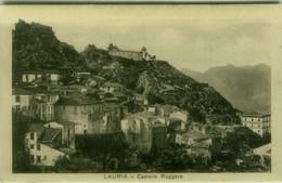 LAURIA ( POTENZA ) CASTELLO RUGGERO - EDIZIONE SARUBBI - SPEDITA 1938 ( 7836) - Potenza