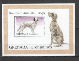 CC059 GRENADA GRENADINES FAUNA PETS DOGS DOMESTIC ANIMALS 1BL MNH - Dogs