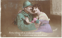 CPA FRANCE THEMES MILITARIA - 1914-18 - Bonheur D'amour - 1916 - Other
