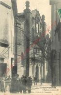 13.  SAINT CHAMAS .  L'Eglise Vue De Porfil.  CPA Animée . - Andere Gemeenten