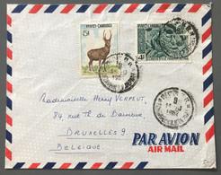 Cambodge Divers Sur Enveloppe De Phnom Penh Pour Bruxelles, Belgique - (W1330) - Cambodja