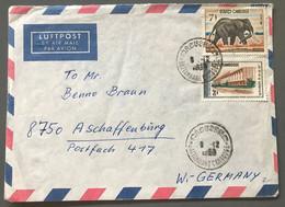 Cambodge Divers Sur Enveloppe De Battambang Pour L'Allemagne 9.12.1968 - (W1333) - Cambodja