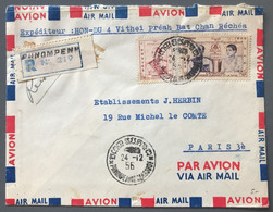 Cambodge Divers Sur Enveloppe Pour Paris 21.12.1956 - (W1342) - Cambodja
