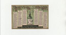 CALENDRIER BOUTEILLE CLACQUESIN APÉRITIFS 1933 - Small : 1921-40