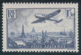 PA 9** 1,50F. BLEU AVION SURVOLANT PARIS - 1927-1959 Mint/hinged