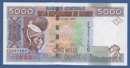 GUINEA - P.38 – 5.000 FRANCS 1998 UNC Serie EQ997460 - Guinea
