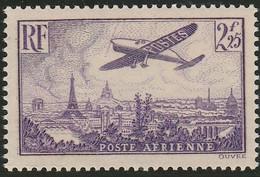 PA 10** 2.25F. VIOLET AVION SURVOLANT PARIS - 1927-1959 Mint/hinged