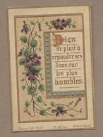 IMAGE PIEUSE.. édit Bonamy PL 156 Bis.. DIEU Se Plait à Répandre Ses Dons Sur Les Plus Humbles.. VIOLETTES - Images Religieuses